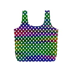 Digital Polka Dots Patterned Background Full Print Recycle Bags (S)