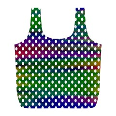 Digital Polka Dots Patterned Background Full Print Recycle Bags (l)