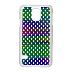 Digital Polka Dots Patterned Background Samsung Galaxy S5 Case (White)