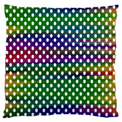 Digital Polka Dots Patterned Background Large Flano Cushion Case (one Side)