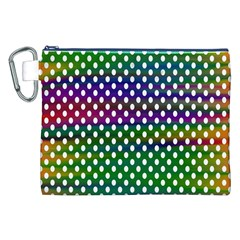 Digital Polka Dots Patterned Background Canvas Cosmetic Bag (xxl)