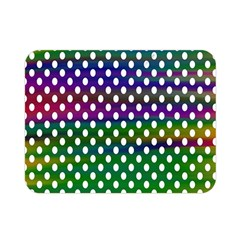 Digital Polka Dots Patterned Background Double Sided Flano Blanket (Mini)