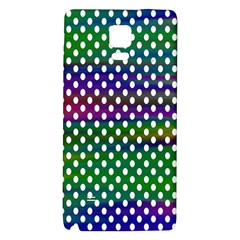 Digital Polka Dots Patterned Background Galaxy Note 4 Back Case
