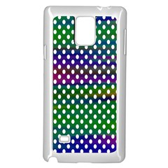 Digital Polka Dots Patterned Background Samsung Galaxy Note 4 Case (White)