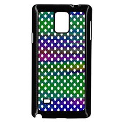 Digital Polka Dots Patterned Background Samsung Galaxy Note 4 Case (Black)
