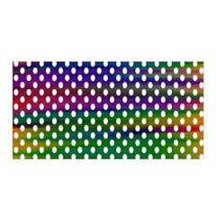 Digital Polka Dots Patterned Background Satin Wrap