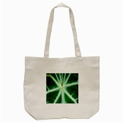 Green Leaf Macro Detail Tote Bag (Cream)