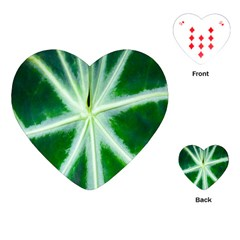 Green Leaf Macro Detail Playing Cards (heart)