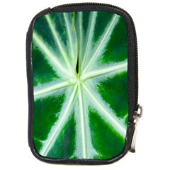 Green Leaf Macro Detail Compact Camera Cases