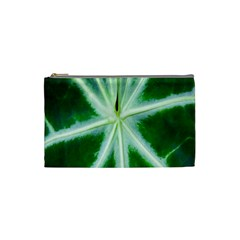 Green Leaf Macro Detail Cosmetic Bag (small)