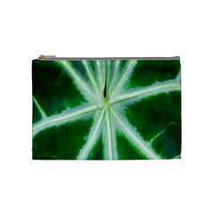 Green Leaf Macro Detail Cosmetic Bag (Medium)