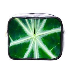 Green Leaf Macro Detail Mini Toiletries Bags