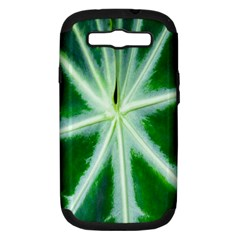 Green Leaf Macro Detail Samsung Galaxy S III Hardshell Case (PC+Silicone)
