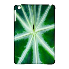 Green Leaf Macro Detail Apple iPad Mini Hardshell Case (Compatible with Smart Cover)