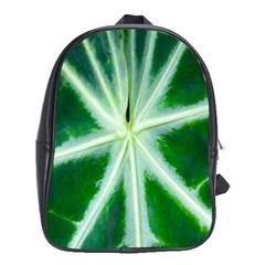 Green Leaf Macro Detail School Bags (XL)