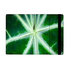 Green Leaf Macro Detail iPad Mini 2 Flip Cases
