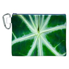 Green Leaf Macro Detail Canvas Cosmetic Bag (XXL)