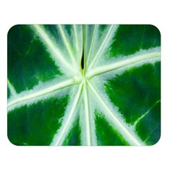 Green Leaf Macro Detail Double Sided Flano Blanket (large)