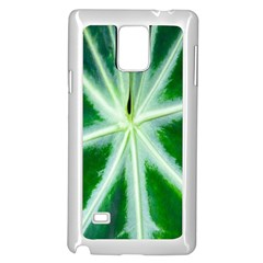 Green Leaf Macro Detail Samsung Galaxy Note 4 Case (White)