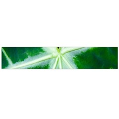 Green Leaf Macro Detail Flano Scarf (Large)