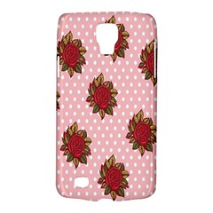 Pink Polka Dot Background With Red Roses Galaxy S4 Active