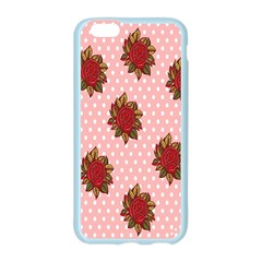Pink Polka Dot Background With Red Roses Apple Seamless iPhone 6/6S Case (Color)