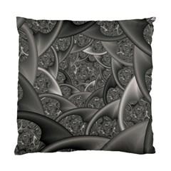 Fractal Black Ribbon Spirals Standard Cushion Case (One Side)