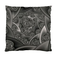 Fractal Black Ribbon Spirals Standard Cushion Case (Two Sides)