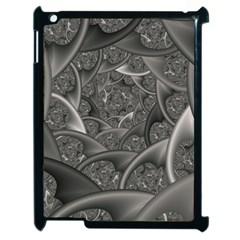 Fractal Black Ribbon Spirals Apple iPad 2 Case (Black)