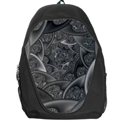 Fractal Black Ribbon Spirals Backpack Bag
