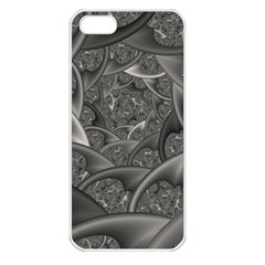 Fractal Black Ribbon Spirals Apple Iphone 5 Seamless Case (white)