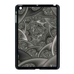 Fractal Black Ribbon Spirals Apple iPad Mini Case (Black)