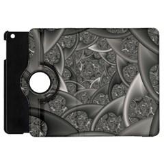 Fractal Black Ribbon Spirals Apple Ipad Mini Flip 360 Case