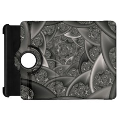 Fractal Black Ribbon Spirals Kindle Fire Hd 7