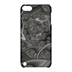 Fractal Black Ribbon Spirals Apple Ipod Touch 5 Hardshell Case With Stand