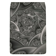 Fractal Black Ribbon Spirals Flap Covers (l)