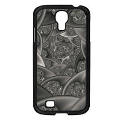 Fractal Black Ribbon Spirals Samsung Galaxy S4 I9500/ I9505 Case (black)