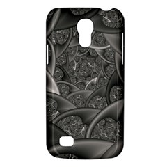 Fractal Black Ribbon Spirals Galaxy S4 Mini
