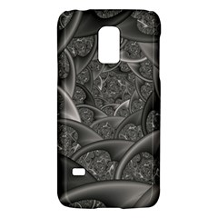 Fractal Black Ribbon Spirals Galaxy S5 Mini