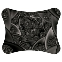 Fractal Black Ribbon Spirals Jigsaw Puzzle Photo Stand (Bow)