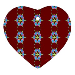 Geometric Seamless Pattern Digital Computer Graphic Ornament (Heart)