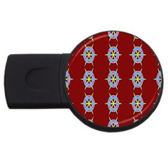 Geometric Seamless Pattern Digital Computer Graphic Usb Flash Drive Round (2 Gb)