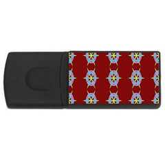 Geometric Seamless Pattern Digital Computer Graphic Usb Flash Drive Rectangular (4 Gb)