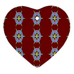 Geometric Seamless Pattern Digital Computer Graphic Heart Ornament (Two Sides)