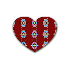 Geometric Seamless Pattern Digital Computer Graphic Heart Coaster (4 Pack)