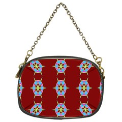 Geometric Seamless Pattern Digital Computer Graphic Chain Purses (Two Sides)