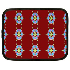 Geometric Seamless Pattern Digital Computer Graphic Netbook Case (XL)