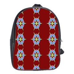 Geometric Seamless Pattern Digital Computer Graphic School Bags(Large)