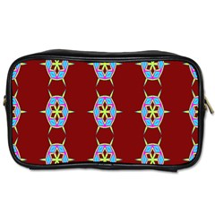 Geometric Seamless Pattern Digital Computer Graphic Toiletries Bags 2 Side