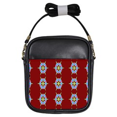 Geometric Seamless Pattern Digital Computer Graphic Girls Sling Bags